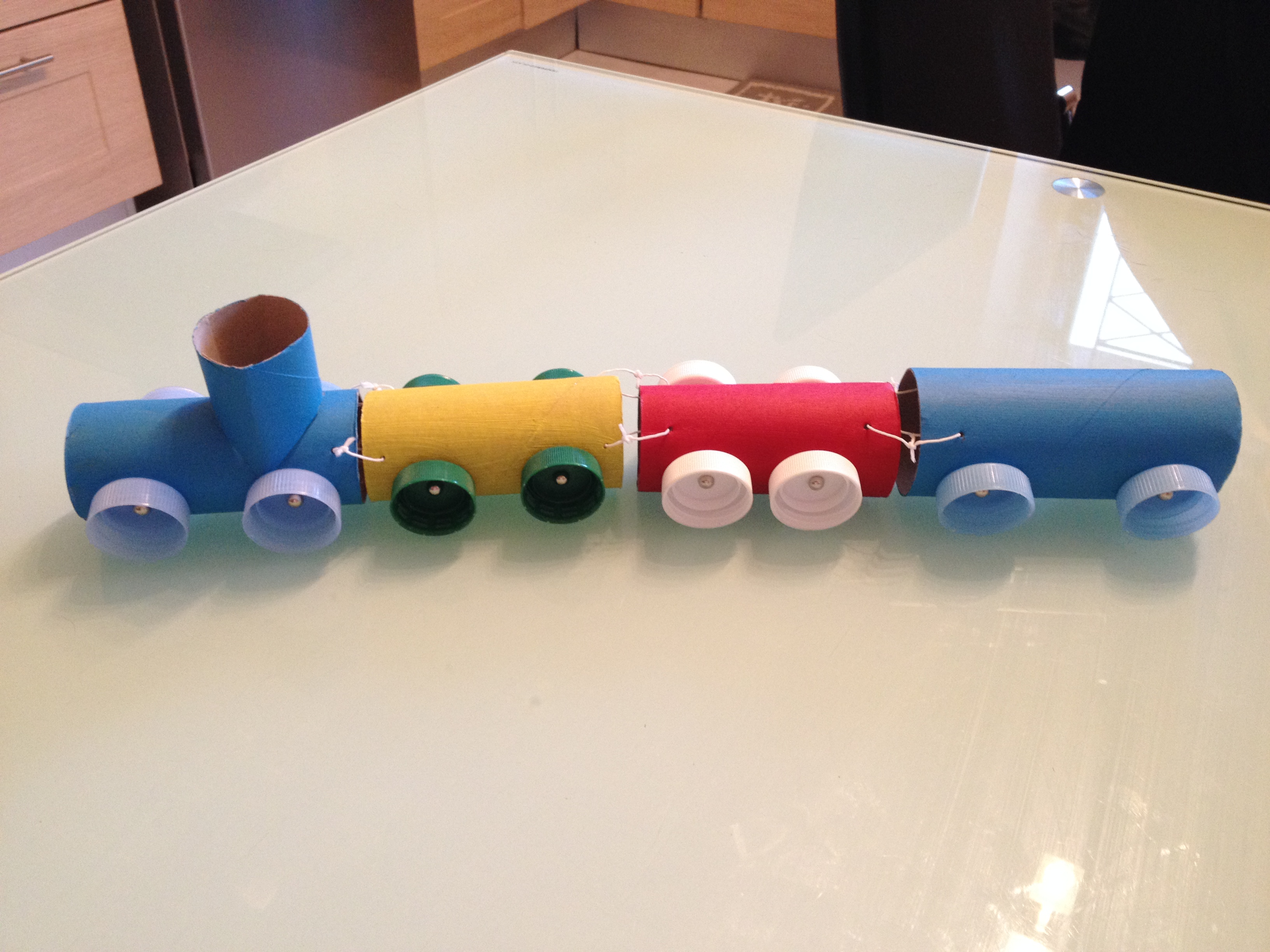 Diy un petit train r cup so mummy - Activite manuelle ado ...