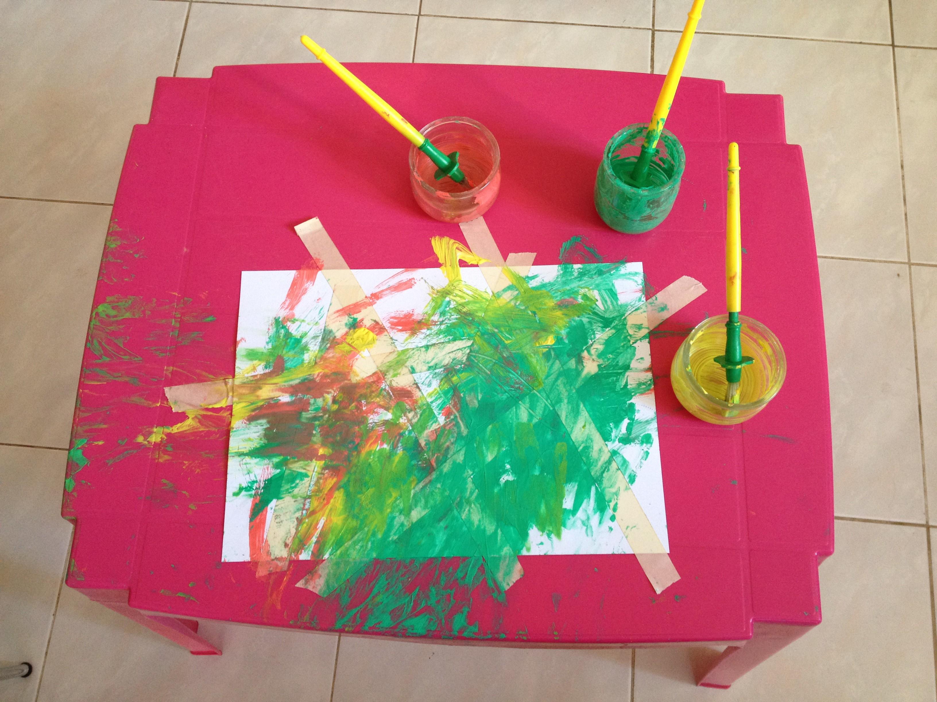 somummy-atelier-peinture-scotch-oeuvre-d'art-activite-enfant-bebe-blog-maman-3